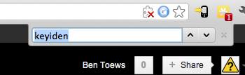 Real Browser Search Bar (Google Chrome on OSX)