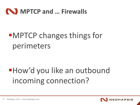 MPTCP and Reverse connections